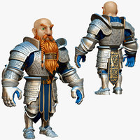 dwarf knight armor 3d model