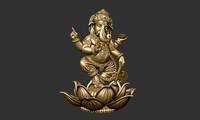 ganesha sculpture obj