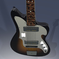 guitar instrument 3d 3ds