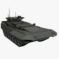 t-15 armata fighting vehicle 3d model
