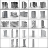 building skyscrapers 3d model