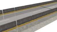 3d obj concrete barrier