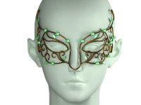 3d mask modeled head model