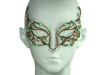 3d mask modeled head model