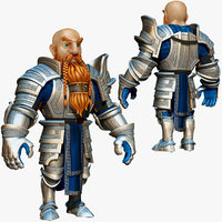 3d model dwarf knight armor