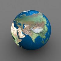 globe earth 3d ma
