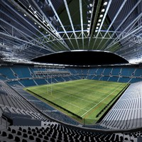 3d model rugby stadium
