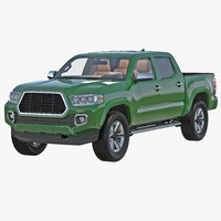 3d model generic pickup simple interior