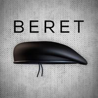 beret hat head 3d model