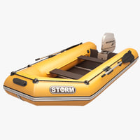 inflatable engine boat orange max