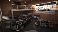 3d luxury garage scene