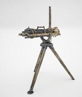 3d gatling machine gun