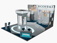 stand exhibition booth 3d 3ds