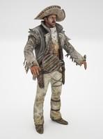 3d mexican cowboy model