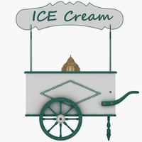 ice cream cart 3d 3ds