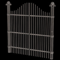 iron gate unwrapped uv 3d model