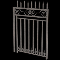 3d iron gate unwrapped uv model