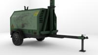 ready mobile generator 3d model
