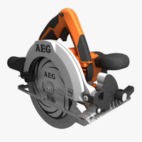 3d model circular saw aeg bks