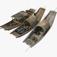 3d model chinese boat 1