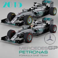 3ds max mercedes w06 hybrid