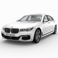 3d model of bmw 7er 2016