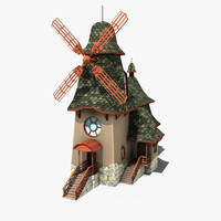 3d model windmill wind