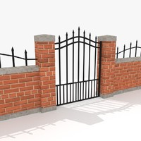 3d model of pack fencing