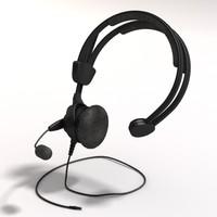 headset 3d obj