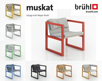 muskat chair 3d max