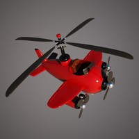 helicopter aircraft hybrid 3d max