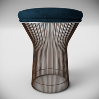 3d model warren platner style stool
