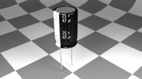 3d model electrolytic capacitor