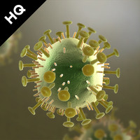 3d obj hiv virus