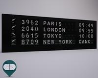 3d indicator board model