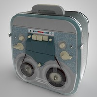 3d model tape recorder