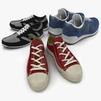 3d model sneakers running shoes