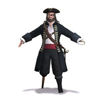 3d pirate rigged