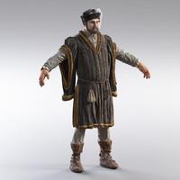 medieval merchant 3d max