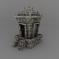 3d medium stoned house model