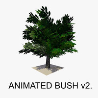 3d bush animations tree model