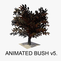 bush animations tree 3d c4d