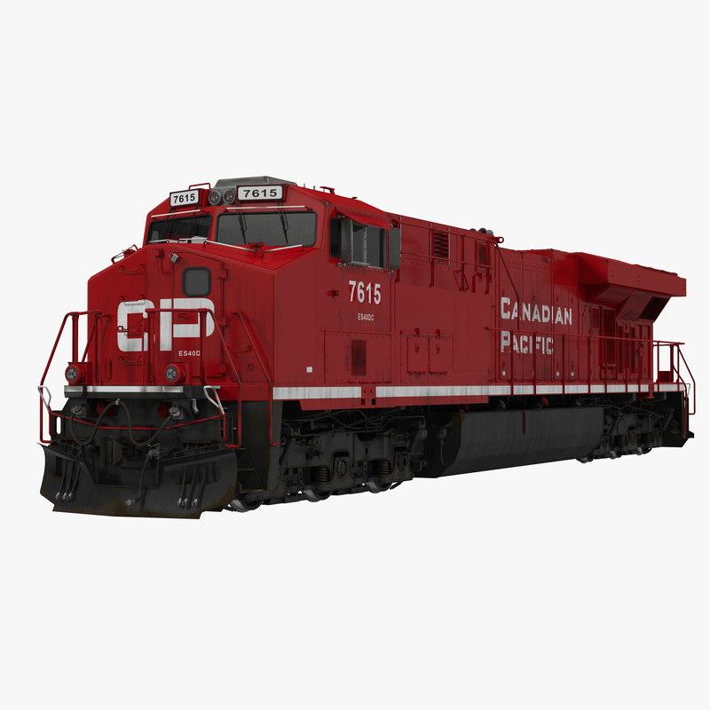 Locomotive ES40DC Canadian Pacific 3d model 00.jpg