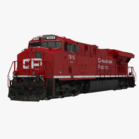 locomotive es40dc canadian pacific 3d model
