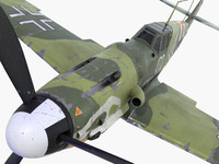 3ds max bf-109 german fighter 1