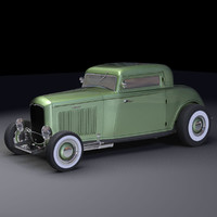 3d model 1932 deuce coupe