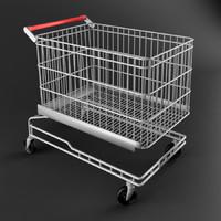 3d model shopping cart trolley