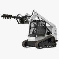 compact tracked loader bobcat 3d max