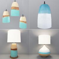 3d lamps set model