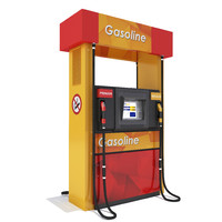 gas pump 3d 3ds